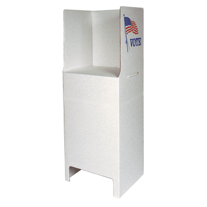 freestanding cardboard booth